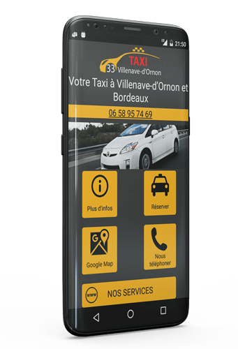 Application taxi Villenave d'Ornon